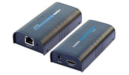 HDMI extender over lan Lenkeng LKV373-VP, HDMI vysílač a přijímač Cat5: 80m, Cat5e: 100m, Cat6: 120m do max. mezi 2 zařízeními