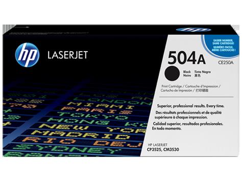 Originální toner HP CE250A, 504A na 5000 stran pro tiskárnu a multifunkce HP Color Laserjet CM 3530 FS, CP 3525