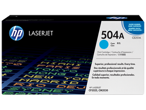 Originální toner HP CE251A, 504A modrý, 7000 stran