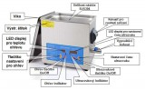 VGT ultrazvuková čistička 20 litrů, 400W/40kHz