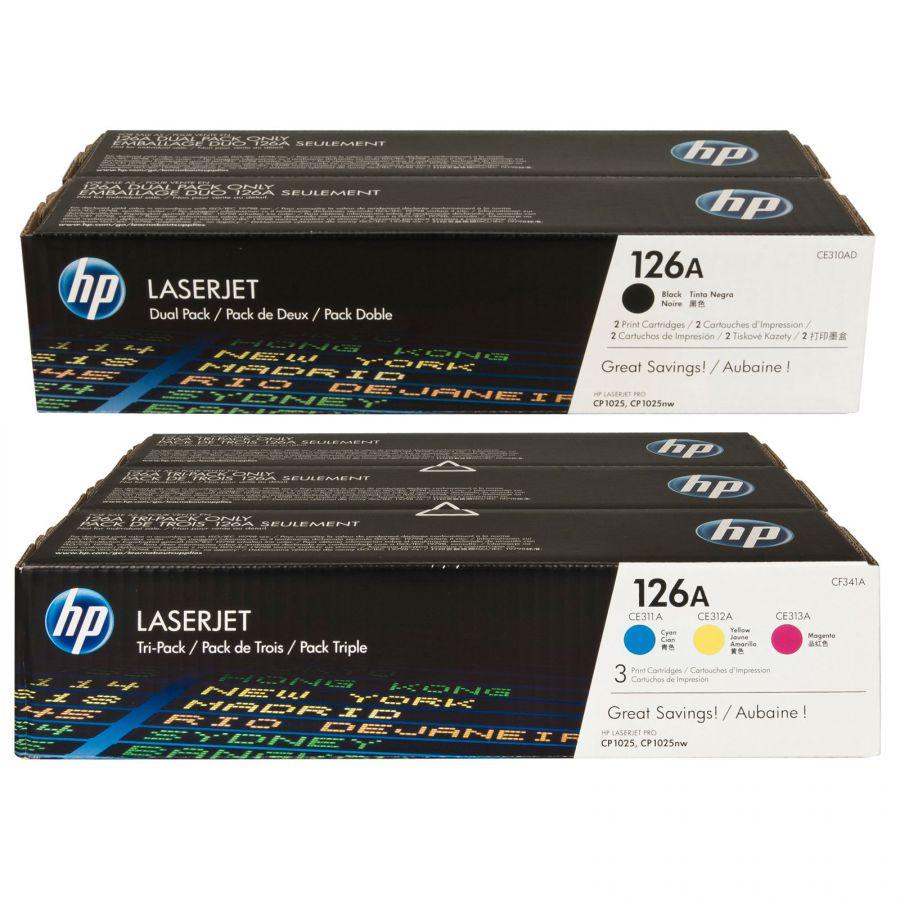 Toner HP CE310AD 3ks, CF341A 2ks sada