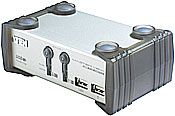 ATEN 2-port KVMP USB+PS/2, usb hub, audio, 1.2m kabely CS-1732A