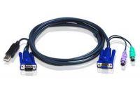 Zvětšit fotografii - ATEN KVM sdružený kabel k CS-82A/84A/138A/88A, USB na PS/2, 3m