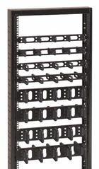 "CONTEG Váz. panel,1U,19""jednostr.,40x50mm 9005"