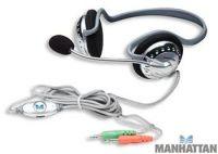 MANHATTAN Stereo sluchátka s mikrofonem - tvarované