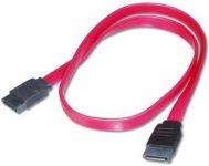PremiumCord 0,5m datový kabel SATA 1.5/3.0 GBit/s červený