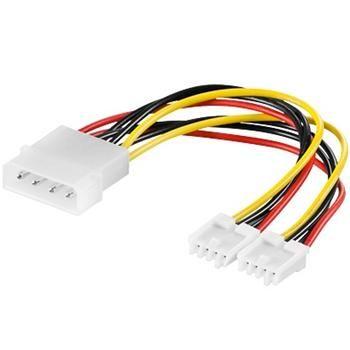 """PremiumCord Kabel napájecí HDD, FDD 5,25""""-2x3,5"""""""