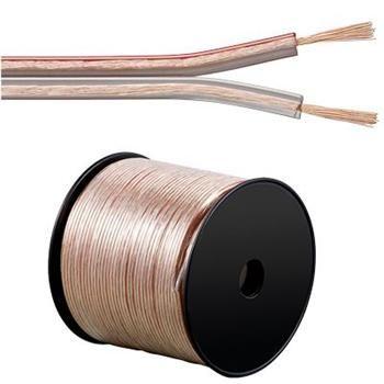 PremiumCord Kabely na propojení reprosoustav 99,9% měď 2x1,5mm2 1m