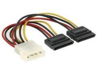 PremiumCord Napájecí kabel k HDD 5,25 Molex - 2x Serial ATA