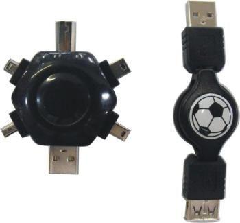 PremiumCord USB Mobil Pack navíjecí AAmf+6xUSB adapt
