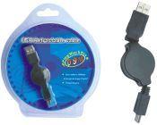 PremiumCord USB navíjecí kabel 0,9m s mini USB 5pinovým konektorem
