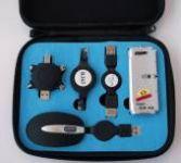 PremiumCord USB Travel Kit pro notebooky - myš,hub,redukce,kabel