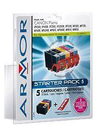 ARMOR Canon, start pack 4 ink +adapter, kom s CLI8/PGI5