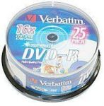 DVD-R 16x Verbatim 4.7GB PRINT. spindl 25pc