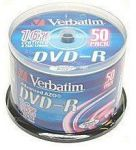 DVD-R 16x Verbatim 4.7GB PRINT. spindl 50pc