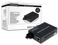 DIGITUS 10/100/1000Base-T to 1000Base-SX, Incl. PSU ST connector, MM, Up to 0.5km DN-82110-1