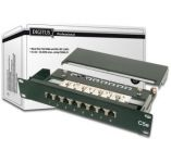 """DIGITUS 10"""" CAT 5e patch panel, stíněný, 8-port RJ45, 8P8C, LSA, 1U, černý  RAL 9005"""