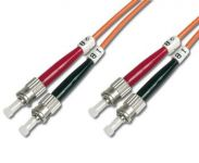 DIGITUS Fiber Optic Patch Cord, ST to ST Multimode 50/125 µ, Duplex Length 2m
