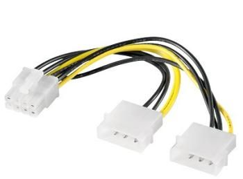 "PremiumCord Redukce napájecí 2x5.25"" Molex - 8 pin pro PCI-E grafické karty"