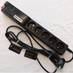 Acar 504WF Ochranný filtr 230V,vyp,1.5m, 5zásuvek