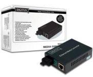DIGITUS 10/100Base-TX to 100Base-FX Singlemode Dual Fiber ST connector 20km