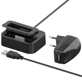 PremiumCord Dokovací stanice pro iPod a iPhone nabíjecí 230V a USB černá