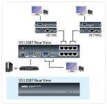 ATEN Video/Audio rozbočovač 1 PC - 8 VGA po Cat5 až 300m