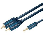 ClickTronic HQ OFC kabel Jack 3,5mm - 2x CINCH RCA, M/M, 1m