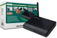 DIGITUS 4-Port USB 2.0 Wi-Fi bezdrátový multifunkční server Print/NAS/Network