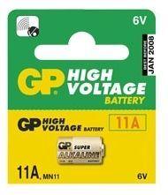 GP Alkalická baterie 6V/38mAh, 11A, do dálkových ovladačů