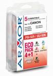 Zvětšit fotografii - ARMOR sada ink-jet pro Canon BKbig/BK/C/M/Y, PG525+CLI526B/C/M/Y