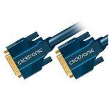 ClickTronic HQ OFC kabel DVI-D(24+1) male <> DVI-D(24+1) male, Dual Link, 1m