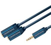 ClickTronic HQ OFC Y redukce Jack 3,5mm - 2x Jack 3,5mm stereo, M/F, 10cm