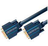 Zvětšit fotografii - ClickTronic Kabel k monitoru HQ OFC (Coax) SVGA MD15HD-MD15HD s ferrity, 3m