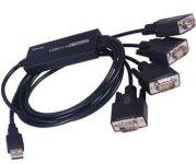 PremiumCord USB2.0 na 4 x RS232C