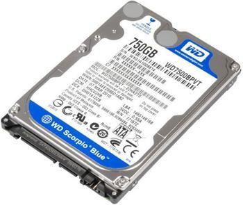 WD Blue 7500BPVX 750GB HDD 2.5'', Serial ATA/600, 5400RPM, 8MB cache Western Digital
