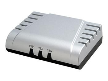 DIGITUS Ethernet print server, 1x USB 1.1 port, 1x LAN port