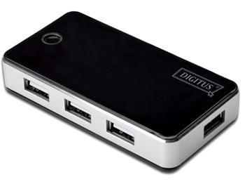 DIGITUS USB 2.0 7-Port Hub s napájecím adaptérem 5V/3.5A černý