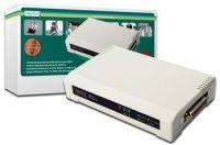 DIGITUS Print server,3 Portový, 2xUSB2.0, 1xCanon 25F, 1xLAN RJ45