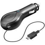 goobay Nabíjecí zdroj s navíjecím kabelem a micro USB pro mobilní telefony do automobilu 0,8A