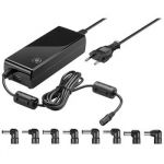 goobay Napájecí zdroj 81W pro notebook 230V, 12-22V max. 6A,  USB port