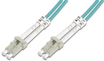 DIGITUS Fiber Optic Patch Cord, LC/LC Multimode 50/125 µ, OM3, Duplex, 10m