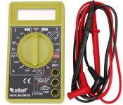 Extol Craft Digitální multimetr (U,I,R), měření do 250V/10A/2000kO, test baterií