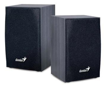 Genius Aktivní stereo reproduktory SP-HF160 2.0, 4W, dřevěné, černé