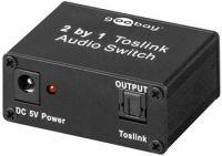 goobay TOSLINK optický elektronický audio přepínač ze 2 vstupů na 1 výstup