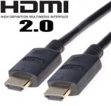 PremiumCord HDMI 2.0b High Speed + Ethernet kabel, zlacené konektory, 1m