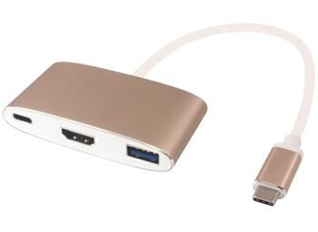 PremiumCord Převodník USB3.1 na HDMI + USB3.0 + PD ( USB Power Delivery )