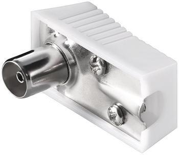 PremiumCord TV antenní konektor IEC úhlový-F, 75 Ohm, plochý konektor