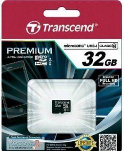 Transcend paměťová karta micro SDHC 32GB Class 10 UHS-I