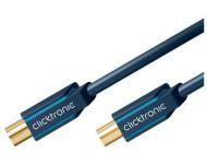 ClickTronic HQ OFC antenní propojovací kabel M/F 75 Ohm, ferrity, 7.5m